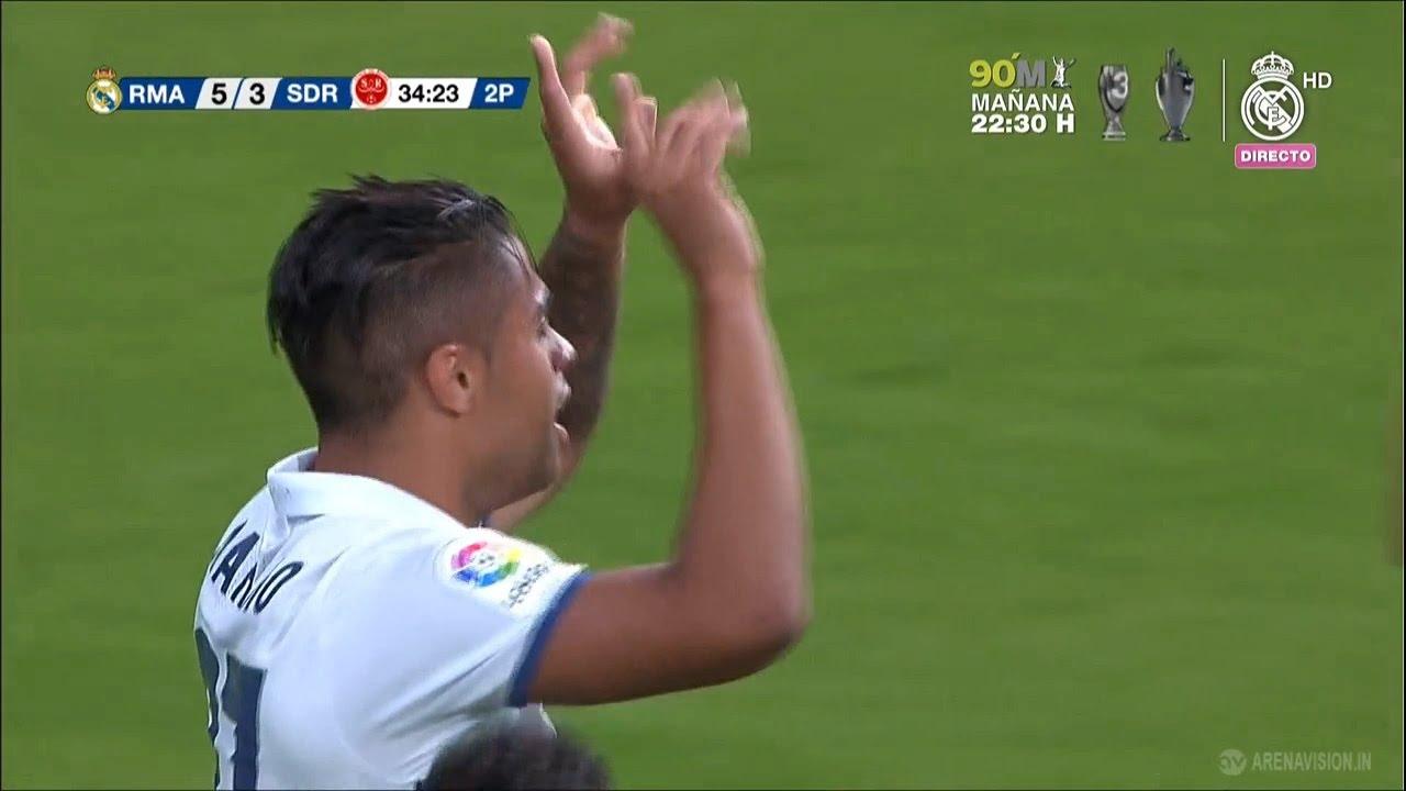 Real Madrid vs Reims 5-3 (Trofeo Santiago Bernabeu)   Mariano Diaz Meta