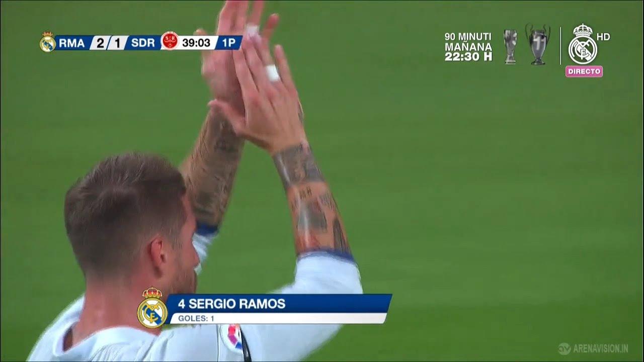 Real Madrid vs Reims 2-1 (Trofeo Santiago Bernabeu) | Sergio Ramos obiettivo